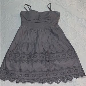 American Eagle Outfitters Charcoal Cotton Dress
